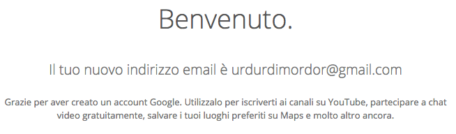 indirizzo email falso
