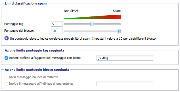 anti spam server di posta elettronica