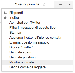 vedere header email gmail