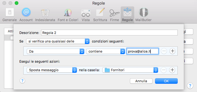 regole apple mail
