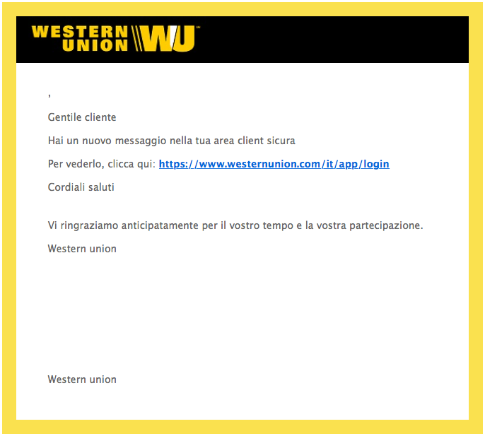 phishing western union