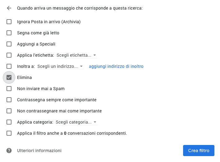 gmail elimina mail spam