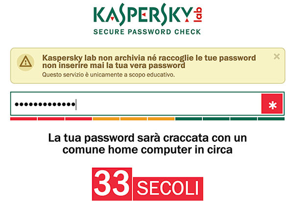 verifica password