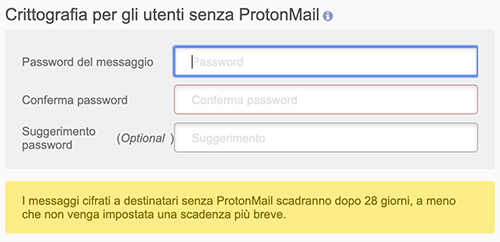 protonmail password