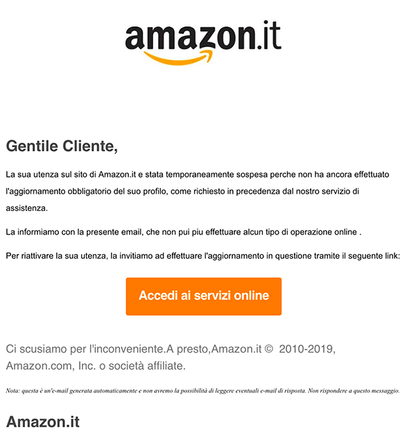 email phishing amazon