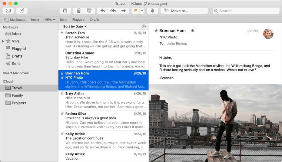 Client di posta Mac Apple Mail