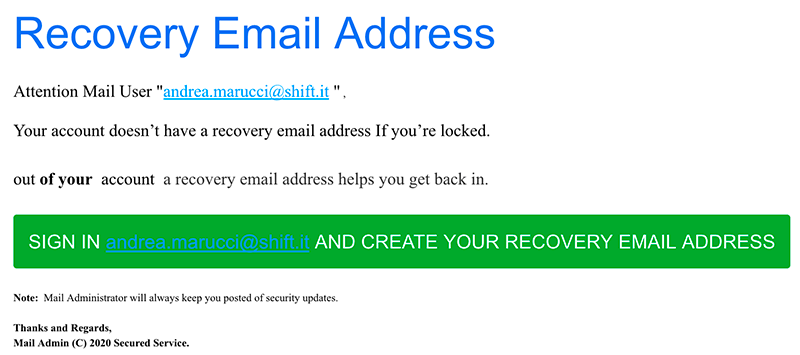 phishing verification recovery