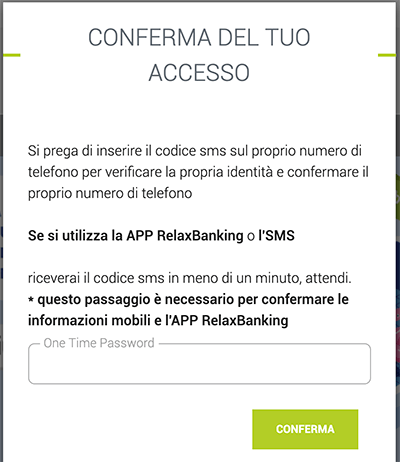 relaxbanking phishing conferma accesso