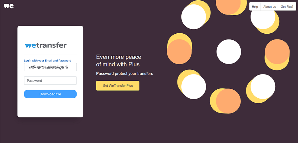sito falso di wetransfer