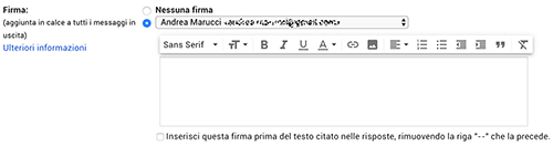 firma email gmail