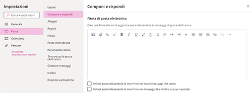 firma email outlook