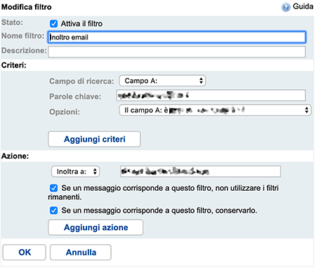 Come inoltrare mail da Alice 1