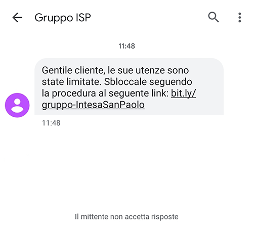 smishing intesa san paolo