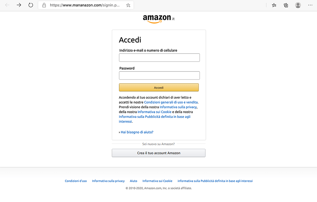 Account Amazon limitato