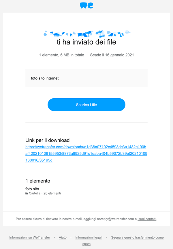 email reale wetransfer