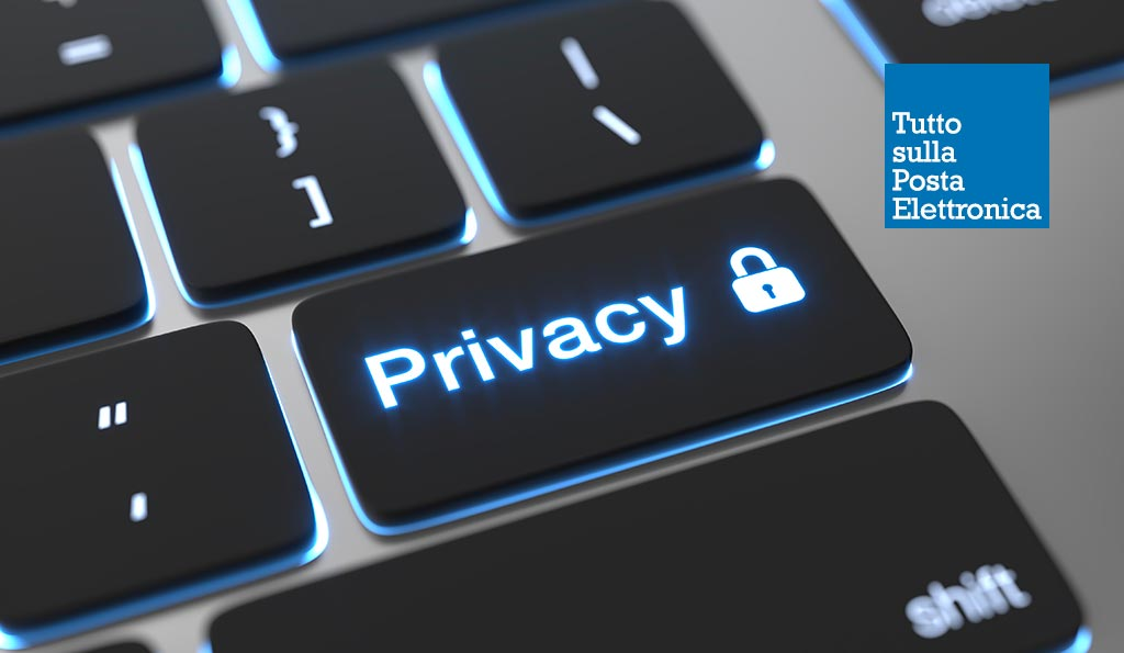 Dicitura privacy email