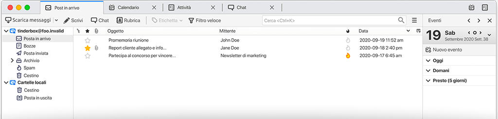 Come organizzare le caselle email in Thunderbird
